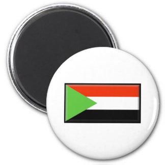 Sudan Flag 6 Cm Round Magnet