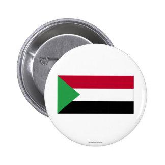 Sudan Flag Pinback Button