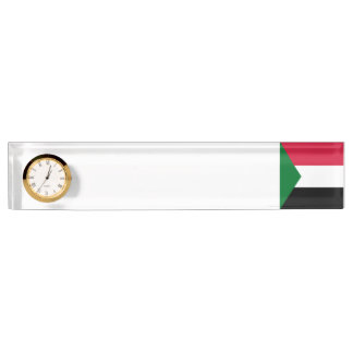 Sudan Flag Desk Name Plate