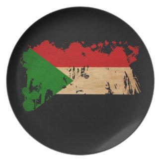 Sudan Flag Dinner Plate