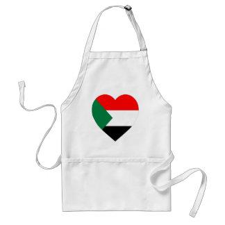 Sudan Flag Heart Aprons