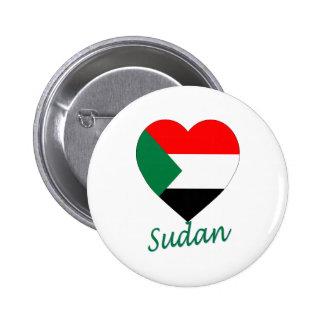Sudan Flag Heart Pins