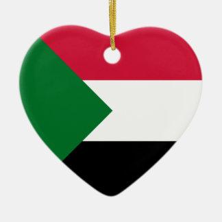 Sudan Flag Heart Ornament