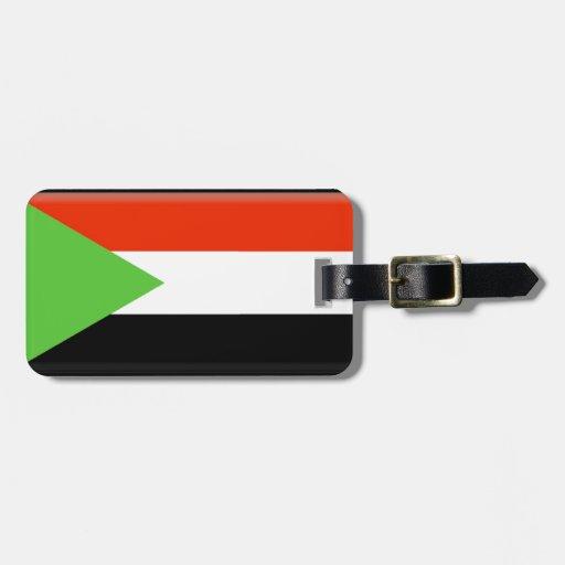 Sudan Flag Travel Bag Tag