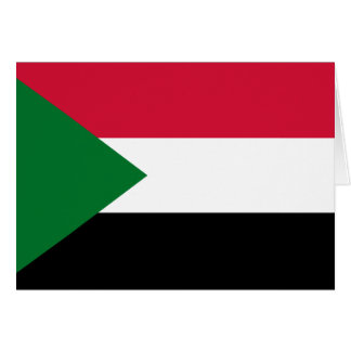 Sudan Flag Note Card