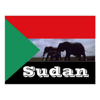Sudan flag postcard