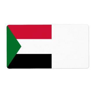 Sudan Flag Shipping Label