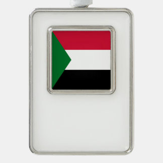 Sudan Flag Silver Plated Framed Ornament