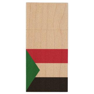 Sudan Flag Wood USB 3.0 Flash Drive
