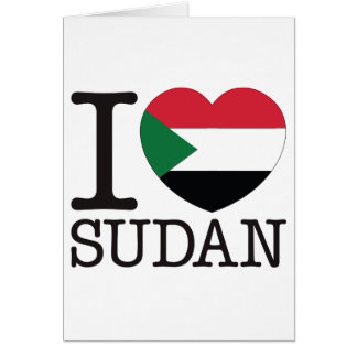 Sudan Love v2 Greeting Card