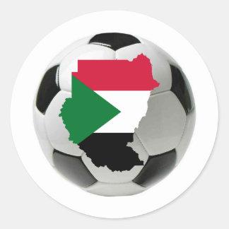 Sudan national team round sticker