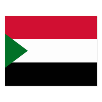 Sudan National World Flag Postcard