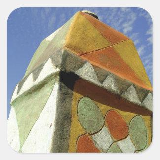 Sudan, North (Nubia), Decorated roof Square Sticker