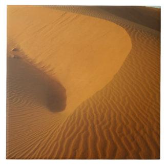 Sudan, North (Nubia), dunes in the desert Large Square Tile