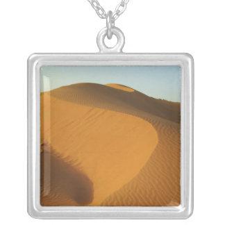 Sudan, North (Nubia), dunes in the desert Square Pendant Necklace