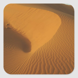 Sudan, North (Nubia), dunes in the desert Square Sticker