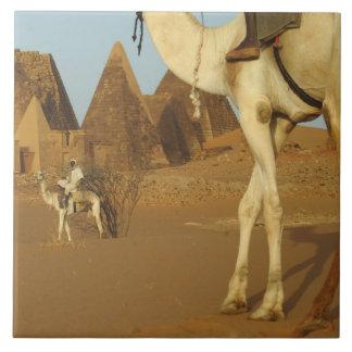 Sudan, North (Nubia), Meroe pyramids with Large Square Tile