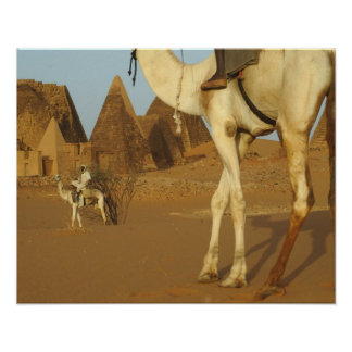 Sudan, North (Nubia), Meroe pyramids with Poster
