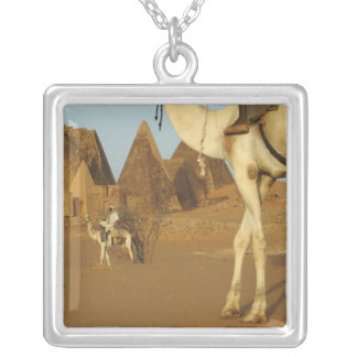 Sudan, North (Nubia), Meroe pyramids with Square Pendant Necklace