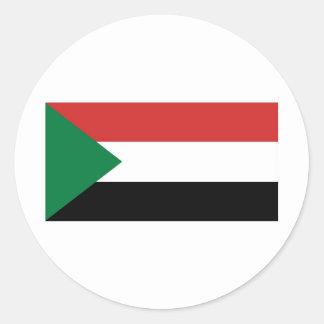 Sudan Round Sticker
