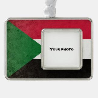 Sudan Silver Plated Framed Ornament