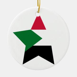 Sudan Star Ceramic Ornament