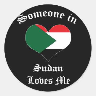 Sudan Round Stickers