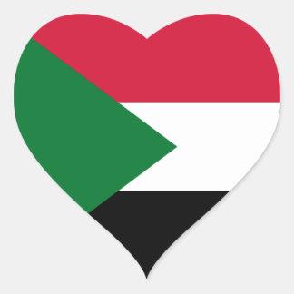 Sudan/Sudanese Heart Flag Heart Sticker