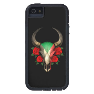 Sudanese Flag Bull Skull with Red Roses Case For iPhone 5