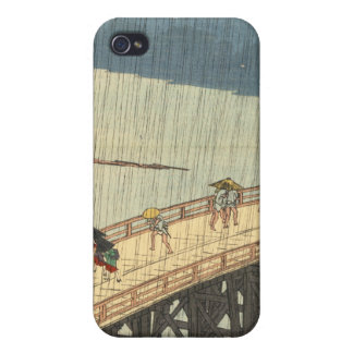 Sudden shower over Shin-Ōhashi bridge and Atake Cover For iPhone 4