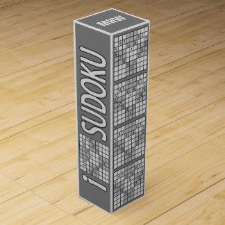 SUDOKU custom monogram wine gift box