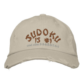 Sudoku , is #1 embroidered hat