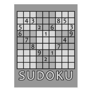 SUDOKU postcard