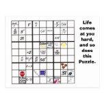 Sudoku Puzzle Cards Postcard