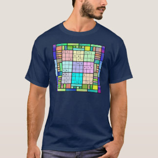 Sudoku Stained Glass Design T-Shirt