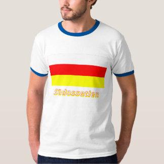 Südossetien Flagge mit Namen Tee Shirt
