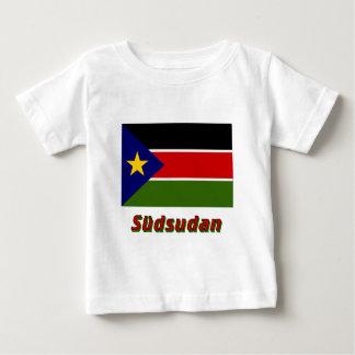 Südsudan Flagge mit Namen Infant T-Shirt