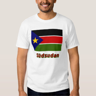 Südsudan Flagge mit Namen Tshirt