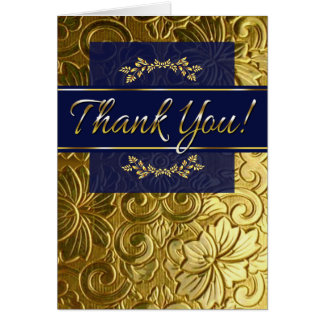 Sue gold navy THANK YOU CARDS small