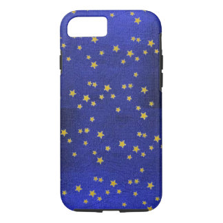 Suede Blue Tiny Stars iPhone 7 Slim Shell Case