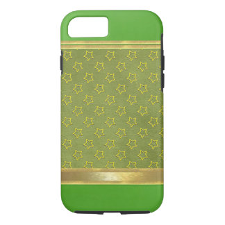 Suede Green with Gold Stars iPhone 7 Case