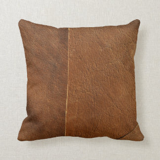 Suede Mix Faux Leather Throw Pillow