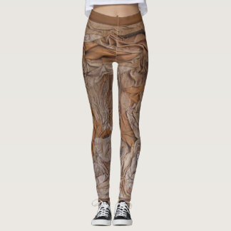 Suede sculptured leggings