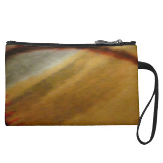Sueded Mini Clutch Bag with space design Wristlet
