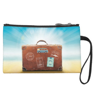 Sueded Mini Clutch Travel Leitmotiv