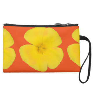Sueded Mini Clutch - West Indian Holly Wristlet Clutches