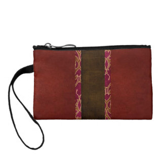 Sueded Mini Wristlet Bag