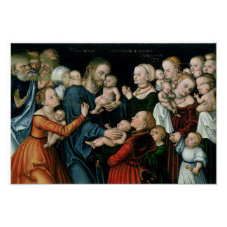 Suffer the Little Children to Come Unto Me, 1538 Poster
