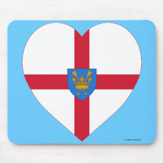 Suffolk St Edmund's Proposal Flag Heart Mouse Pads