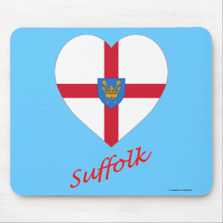 Suffolk St Edmund's Proposal Flag Heart with Name Mousepad
